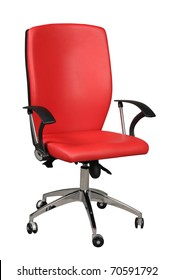 office red chair isolated on white