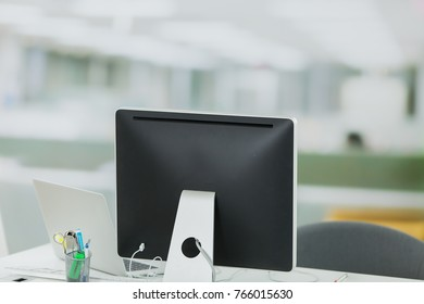 office space with computer