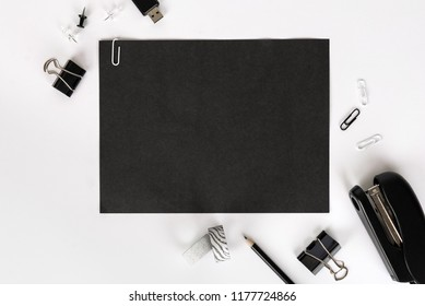 Office stationary. corporate design mockup template