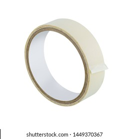 office stationary Roll of Glue tape or masking tape and scotch tape isolated on white background with clipping path