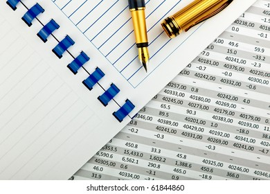 office supplies and financial document