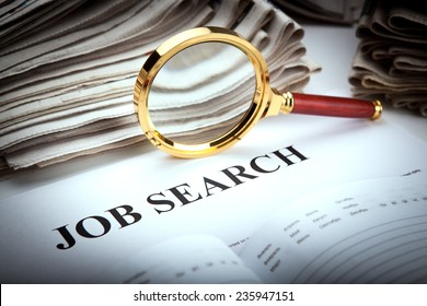 office supplies and job search close up