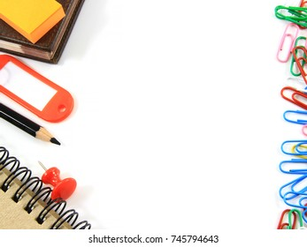 Office supplies and school.Business concept.Top view and copy space.