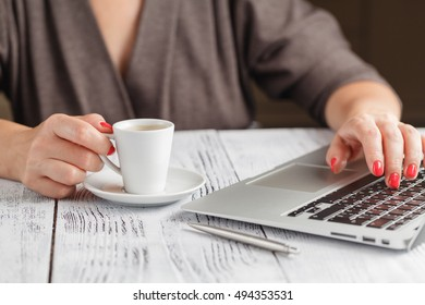 Office table with pc, coffee cup