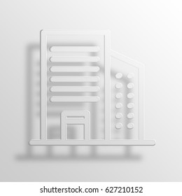 office tower 3D Paper Icon Symbol Business Concept