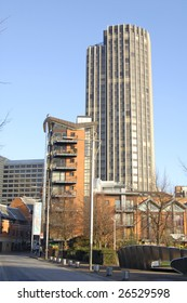 Office tower near the South Bank of the River Thames in London, England