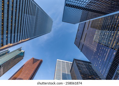 Office towers in the downtown financial district of Toronto Canada.