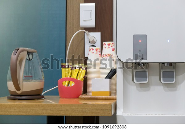 Office Water Purifier Kettle Coffee Type Stock Photo Edit Now 1091692808