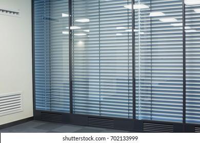 Office windows with jalousie