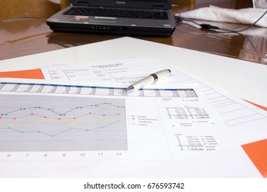 office work with financial reports