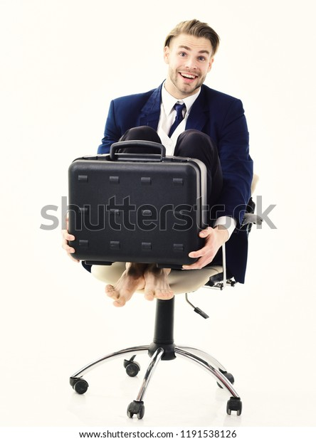Pleasing Office Worker Silly Face Spinning Chair Stock Photo Edit Interior Design Ideas Lukepblogthenellocom
