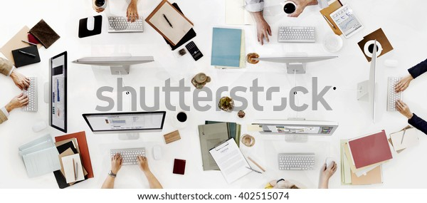 Office Workplace Business People Working Colleagues Concept