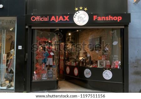 Official Ajax Football Fan Shop Kalverstraat Stock Photo Edit Now