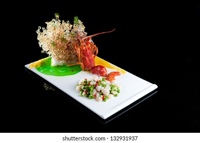 The official Chinese cuisine fried lobster
