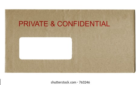 official envelope labelled private & confidential