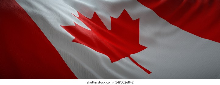 Official flag of Canada. Web Banner