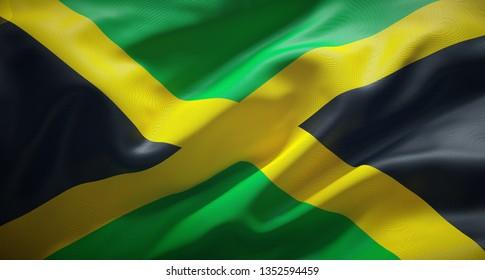 Official flag of Jamaica.