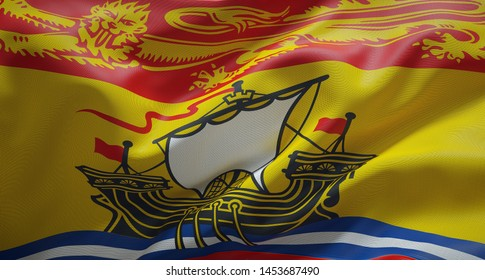 Official flag of the province of New Brunswick. Canada.