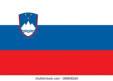 Official flag of Slovenia nation