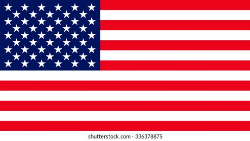 Official flag of United States of America country