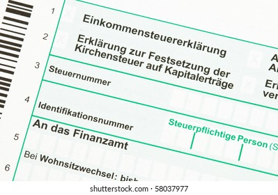 Official German tax form