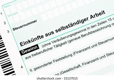 Official German tax form for the tax year 2009