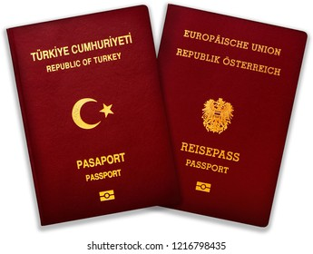 An official passport of the Austrian Republic and of Turkey