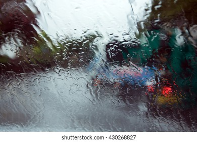 The official start of Summer weather in the UK  brings very heavy rain with poor visibility and driving conditions.