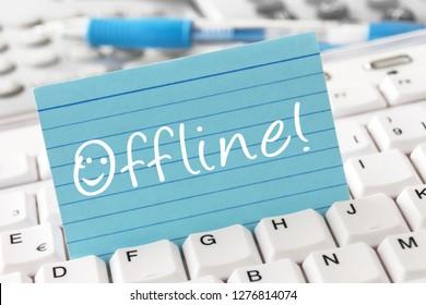 Offline label and computer