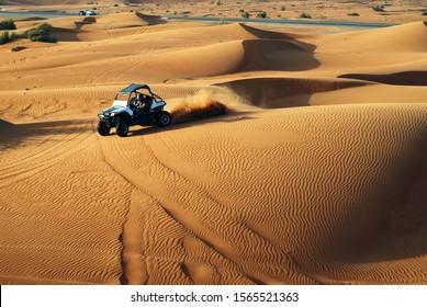 Offroad buggy desert safari race trip in Dubai, UAE