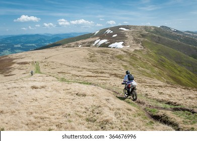 Off-road motorcycle rider