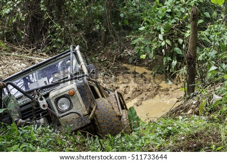 Offroad in the mud