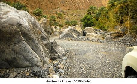 Offroad through Wadi Gul, Oman