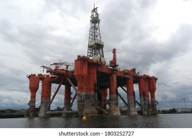 Offshore Finnish drilling rig, the Borgny Dolphin, in Belfast's Harland and Wolff from August 2014 until October 2016 when it was then taken to Aliaga, Turkey to be scrapped.