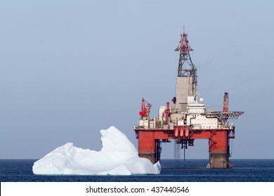 Offshore oil drilling platform.