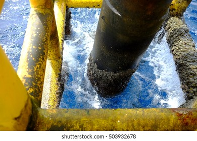 Offshore oil and gas below platform Petroleum industry Pipeline construction Material and tool & Offshore Oil Gas Below Platform Petroleum Stock Photo (Royalty Free ...