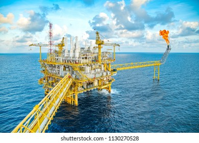 Offshore oil and gas central facility produce raw gas condensate and crude oil and then treat for sent to onshore refinery and petrochemical industry and liquid set to floating storage offloading.