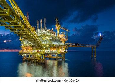 Offshore oil and gas central facility  produce raw gas condensate and crude oil and then treat for sent to onshore refinery and petrochemical industry and liquid set to floating storage offloading