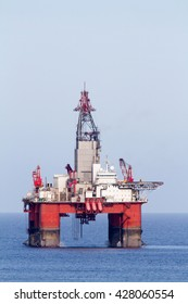 Offshore oil and gas drilling platform.
