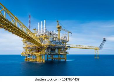 Offshore oil and gas production and exploration business, Gases processing platform produced crude oil and gas before sent to onshore refinery.