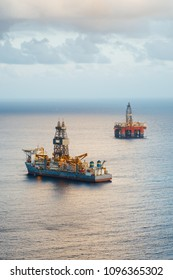 offshore oil platform and gas drillship