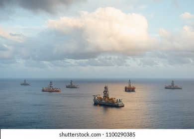 offshore oil platform and gas drillships