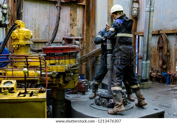 Offshore Oil Rig Worker Prepare Tool Stock Photo (Edit Now) 1213476307