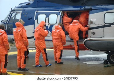 Offshore Personnel Flying Home
