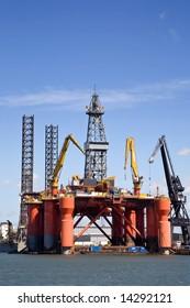 Offshore platform at dock