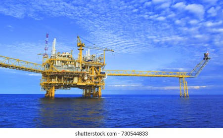 Offshore platform of the in sea southeast asia.