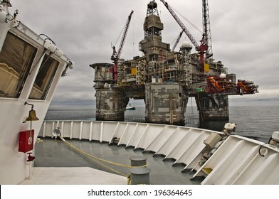 Offshore Platform together with Seismic Survey Vessels and Offshore Supply ships