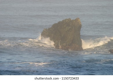 Offshore rocks, Luffenholtz Beach County Rocy, Trinidad, California, USA