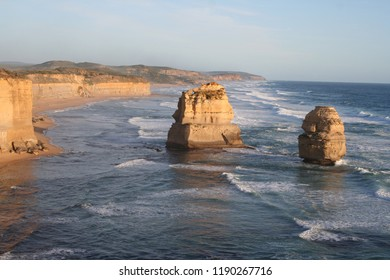 Offshore stack gog and magog at twelve apostels, National park along great ocean road, victoria, australia