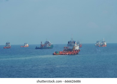 Offshore vessel standby for hiring and services at anchorage area